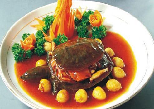 すっぽんの醤油煮(紅焼水魚)