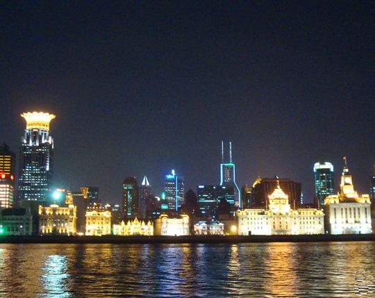 黄浦江の夜景