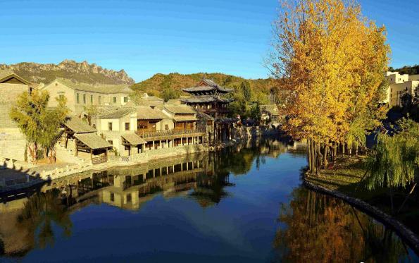 司馬台長城の麓にある小北平、古北水鎮
